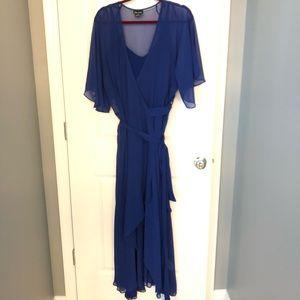 Royal Blue City Chic Wrap Dress